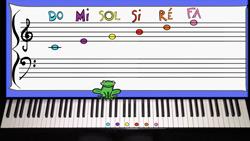 jeu de piano main droite